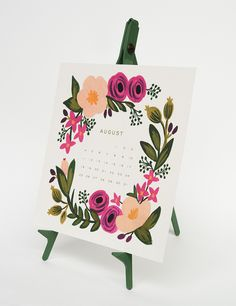 Looking for high-quality paper goods? Our cards, stationery and gift wrap in our paper goods store has everything you need for stylish snail mail. Diy Calendar, Desk Calendars, Calendar Design, Floral Illustrations, Editorial Design, Crochet Flowers, Paper Goods, Artsy Fartsy, Stationery