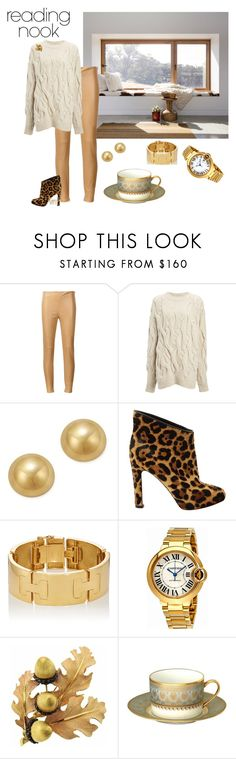 """Mountain Tea Time"" by meesh57 on Polyvore featuring interior, interiors, interior design, home, home decor, interior decorating, Ralph Lauren, Joseph, Bloomingdale's and Christian Louboutin"