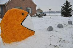 Pac-Man Snow Creation