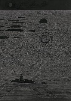 Drawings by artist Daehyun Kim Moonassi  http://www.extramoeniart.it/mi-ritorna-in-mente/daehyun-kim-sentimenti-in-bianco-e-nero