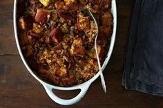 The spice of the Andouille sausage compliments the slight sweet and tart flavors from the apples and cranberries. This stuffing is perfect for the holidays and is GLUTEN-FREE!