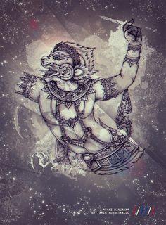 Thai Hanuman by Tarin Yuangtrakul, via Behance