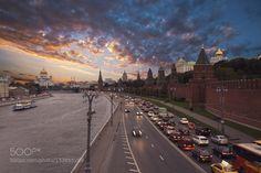 #capitalarchitecturebusycarscathedralchristchurchcitycityscapecolorfuldrivewayduskeuropeeveningfamousfortresshistorichistoryilluminatedkremlinlandscapemoscowoldorthodoxriverroadrussiarussiansaviorscenestreetsunsettempletowertraffictraveltwilighturbanvibrantviewwallwaterfront #Nutexzles (December 28 2015 at 11:39PM) View of Moscow Kremlin and Moscow River