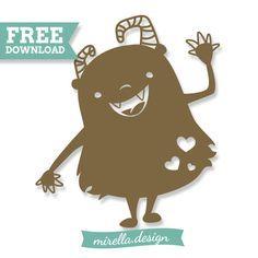 Monster Plotter file Freebie Plotterdatei liebes Monster für Kinder