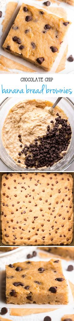 Banana bread flavor + fudgy brownie texture + chocolate chips = AMAZING! And this easy dessert is secretly healthy enough for breakfast!