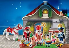 Sinterklaas 'tafereel' pakjesavond