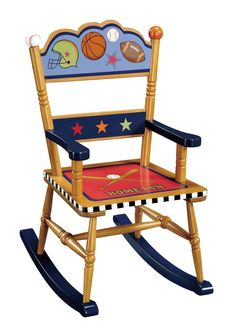 Little Boy Chairs Ergonomic Chair Article 64 Best Rocking Images Hand Painted Playoffs In Multi Color Cute For A