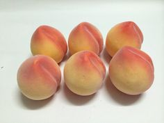 6pcs Artificial Lifelike Simulation Light Juicy Peach Fake Fruit -- Check out this great product.
