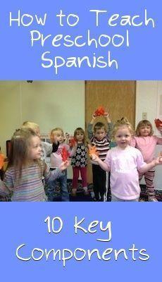 10 Key Components of a Preschool Spanish Lesson - Spanish Playground