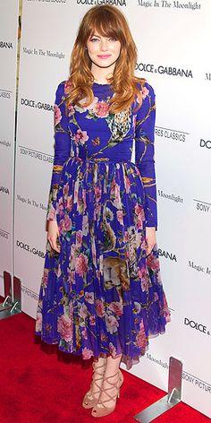 Emma Stone - Magic In The Moonlight NY Premiere - Dolce & Gabbana
