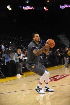 Matt Barnes of the Golden State Warriors shoots during practice and media availability as part of the 2017 NBA Finals on May 31 2017 at ORACLE Arena...