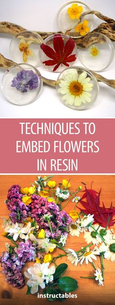 Techniques to Embed Flowers in ResinYou can find Resin crafts and more on our website.Techniques to Embed Flowers in Resin Epoxy Resin Art, Diy Resin Art, Diy Resin Crafts, Diy Crafts For Kids, Diy Resin Casting, Resin Spray, Diy Resin Mold, Stick Crafts, Craft Ideas