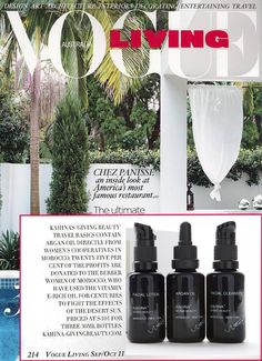 Vogue Living Australia | Kahina Giving Beauty Travel Basics Kit with Argan Oil, Facial Cleanser, and Facial Lotion
