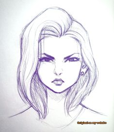 Ideas For Doodle Art Sketches Awesome Girl Drawing Sketches, Girly Drawings, Illustration Art Drawing, Art Drawings Sketches Simple, Face Sketch, Pencil Art Drawings, Sketch Art, Drawing Faces, Drawing Art