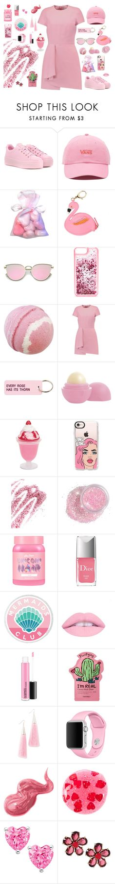"""""""Pink #7"""" by marthaamayacastillo-stu ❤ liked on Polyvore featuring Kenzo, Vans, Lilly Pulitzer, ban.do, Valentino, Various Projects, Eos, Casetify, Obsessive Compulsive Cosmetics and Lime Crime"""