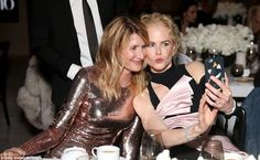 Laura Dern & Nicole Kidman from The Big Picture: Today's Hot Pics Sweet selfie! The pair stop for a quick photo at the InStyle Awards in L. Hollywood Party, Pink Gowns, Nicole Kidman, Celebs, Celebrities, Big Picture, Hottest Photos, Beautiful People, Awards