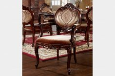 Densing Meile American Style Classic Dining Chair with Armrest - MelodyHome.com