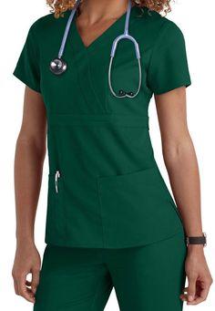 Grey's Anatomy 3 Pocket Mock Wrap Scrub Tops- Have this top and the matching pants Scrubs Outfit, Scrubs Uniform, Greys Anatomy Shirts, Cute Scrubs, Black Scrubs, Red Scrubs, Medical Scrubs, Nursing Scrubs, Dental Scrubs