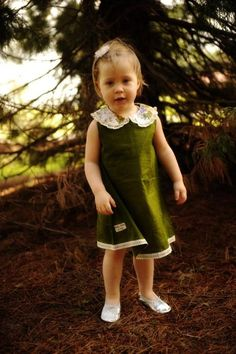 Baby Takes A Trip {Spoon Full of Sugar Dress – Olive}