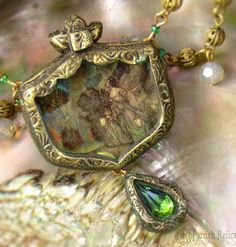 Parrish Relics is an amazing Jewelry Designer, inspired by mostly medieval and renaissance jewelry.  The B-necklace in 'Ugly Betty'?  She made it based on a painting of Anne Boleyn, a wife of Henry VIII.