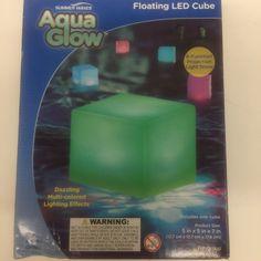 b7275b87fc843d Floating Light Summer Waves Aqua Glow Pool LED Cube Multi Colored Lighting