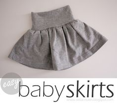 delia creates: Nesting: Easy Baby Skirts from a T-shirt.