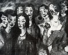 Emil Nolde. Wise and foolish virgins. Picture destroyed as degenerate art in WW2.
