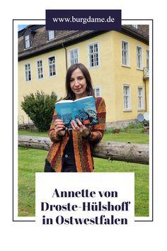 Annette von Droste-Hülshoff hat einen großen Teil ihrer Jugend in Ostwestfalen, in der Nähe von Höxter verbracht. Hier zeige ich Euch die Schlösser ihrer Familie in Ostwestfalen bei Brakel. #annettevondrostehülshoff #ostwestfalen #nordrheinwestfalen #schlösser #höxter #brakel Charlotte Bronte, Die Brüder Grimm, Bad Driburg, Love Story, Castles, Youth, Writers