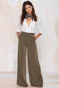 nasty gal. far + wide palazzo pants. #fashion