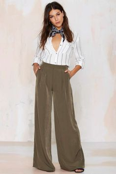 nasty gal. far + wide palazzo pants. #fashion