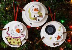 DIY Holiday Snowman Ornaments