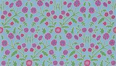 Candytuft Powder Blue / Berry wallpaper by Sanderson