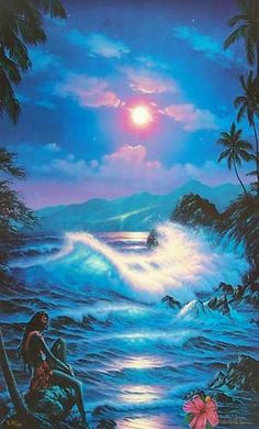Christian Lassen Cosmic Voyagers   Blue Hanna Moon by Christian Riese Lassen, Limited Edition Print ...