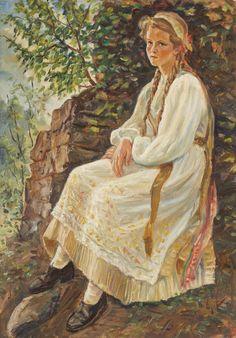 Copilă săsoaică (Gerda Leonhardt din Sighișoara)