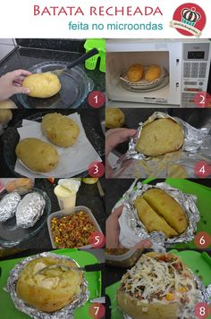 Batata recheada feita no microondas