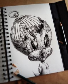 Mind-blowing graphite pencil doodles and sketches by French artist Pez   Creative Boom