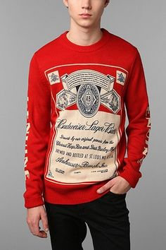 so...this is not an animal sweater but its still super cute- Budweiser Sweater
