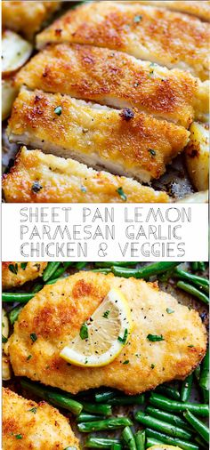 Sheet Pan Lemon Parmesan Garlic Chicken & Veggies | Floats CO #chicken #chickenrecipes #chickendinner #easyrecipe #easyfoodrecipes #simplerecipes #healthyfood #healthyrecipes #goodfood