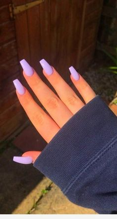 Purple Acrylic Nails, Acrylic Nails Coffin Short, Best Acrylic Nails, Acrylic Nail Designs, Purple Nail Designs, Acrylic Nails For Summer, Periwinkle Nails, Light Purple Nails, Coffin Nails Designs Summer
