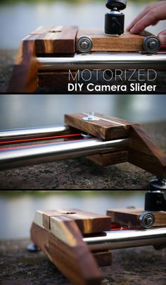 Get dynamic footage wherever you are. Dslr Photography Tips, Photography Projects, Photography Equipment, Photography And Videography, Photography Tutorials, Arduino Projects, Electronics Projects, Diy Camera Slider, Camera Rig