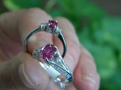 #Pink #Saphire #Ring #whitegold #Liverpool #gemstone #gems #DianaJewelers