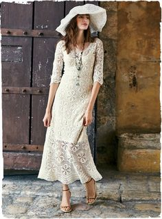 Masterfully handcrocheted pima dress