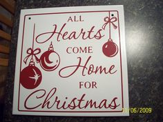 I got this file (it's an svg) from Jeannie on the cricut mb. Her mb name is She does beautiful plaques, and is very gener. Cricut Christmas Ideas, Christmas Fonts, Christmas Coasters, Christmas Vinyl, Christmas Signs, Christmas Crafts, Christmas Ornaments, Xmas Ideas, Tile Projects