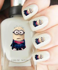 High Quality Nail Art For Every Occasion! Minion Superman *** Be sure to check out this awesome product.