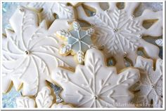 Decorated Snowflake Cookies!