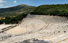 The Sanctuary of Asklepios, a celebrated healing center of the classical world, is the proud home to the spectacular 4th century ancient theater that is considered one of the purest masterpieces of Greek architecture #unesco #Epidaurus #Peloponnese #Greece #Monterrasol #travel #privatetours #customizedtours #multidaytours #roadtrips #travelwithus #tour #nature #architecture #art #beautiful #thisisgreece #destination #tourism #sanctuary #Asklepios #health #theater #masterpiece #mountains Day Tours, World Heritage Sites, Architecture Art, Theater, Greece, Tourism, Road Trip, Healing, Island
