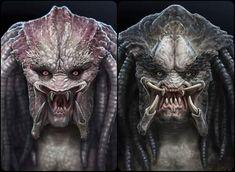 Wolf Predator, Predator Alien, Japanese Demon Mask, Alien Isolation, Sci Fi Horror Movies, Horror Artwork, Alien Creatures, Xenomorph, Fauna