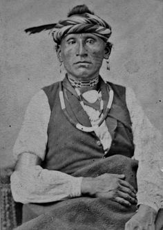 Osage man at Fort Smith in Arkansas - 1865