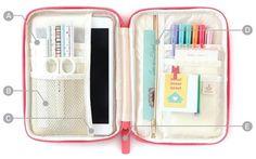 Ipad-Mini-Galaxynote-8-0-Soft-Multi-Pouch-Organizer-Pencil-Case-Travel-Korean