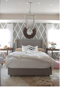 Ah! Was just thinking this is what i wanted to do in my bedroom but a darker grey instead of the white.
